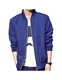 BINGKA Mens Jacket Fashion Softshell Sportswear Lightweight Slim Bomber Jacket Coat