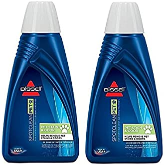 BISSELL 2X Pet Stain & Odor Portable Machine Formula, 32 ounces (Pack of 2)