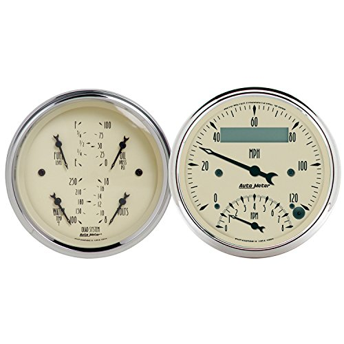 Auto Meter 1820 Antique Beige Quad Gauge/Tach/Speedo Kit