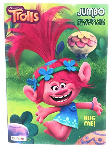 Amazon.com: Trolls Jumbo Coloring and Activity Book set of 2 and 12 ...