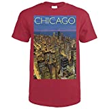 Chicago, Illinois - View from Sears Tower Skydeck (Cardinal Red T-Shirt XX-Large)