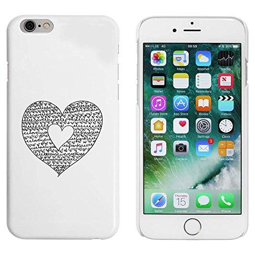Weiß 'Sparen Sie das Datum Herz' Hülle für iPhone 6 u. 6s (MC00009870)