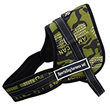 "Didog(TM)Multipurpose Sports Soft Inner Padded Dog Pulling Harness Fits Husky Pitbull Boxer,Camouflage,M 24-28"""