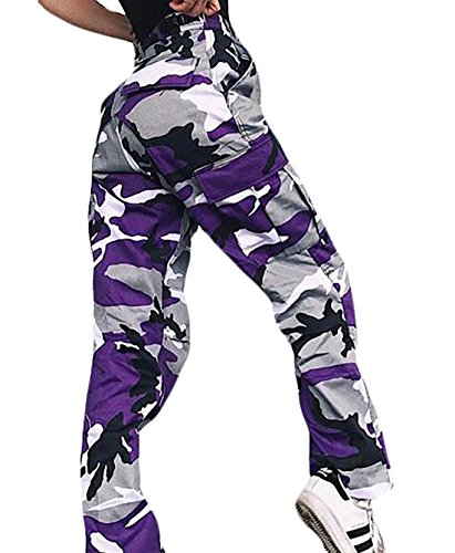 Purple Camo Pants - 7