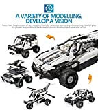 DIY Kit R/C 10 in 1 Race Cars Building Bricks Radio Control Racing Toy,Remote Control High Speed Racing Vehicles Car Toy Track Cars Toys Birthday Gift for Kids Toddlers Boys Girls Adults (A)