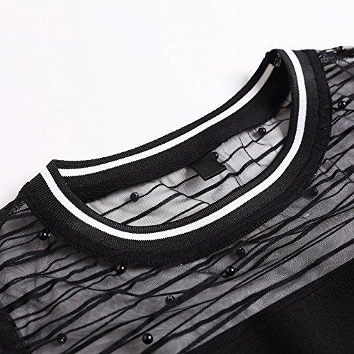 MiGMV pour Fil Femmes 3XL de de l'usure Robes vtements Longue Taille Robe Maille Grande 2018 Moyenne et Robe Black l't Type Nouveau YqxRrw6qXO