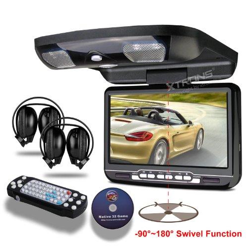 Down Monitor Overhead Car DVD Player with Built-in FM&IR Transmitter IR Headphones ()