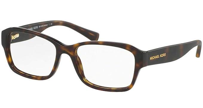 92e2ad49462 Amazon.com  Eyeglasses Michael Kors MK 4036 3207 DARK TORTOISE  Clothing