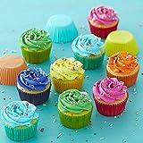 Gifbera Rainbow Mini Cupcake Liners Bright Colors