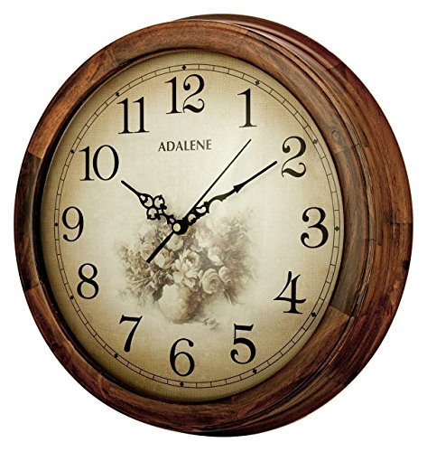 Adalene 14 inch wall clock large decorative living room clock quiet battery operated quartz Target clocks living room