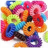 Z-COMFORT No Lump Plastic-Coil Hair-Tie Set in Assorted Colors (35-Piece)