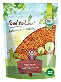 Organic Red Split Lentils by Food to Live (Dry Beans, Non-GMO, Kosher, Raw, Masoor Dal, Bulk) - 1 Pound
