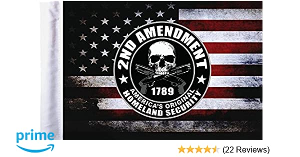 Pro Pad Homeland Security Sleeved 6 by 9-inch Motorcycle Flag