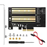 Dual M.2 PCIe Adapter Card for NVMe/SATA SSD