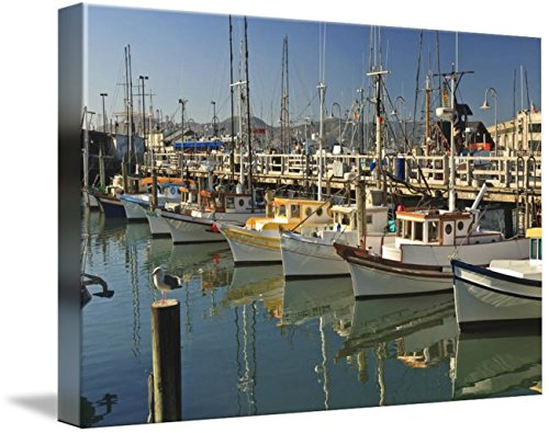 Wall Art Print entitled Fishermen's Terminal San Francisco, California, by Design Pics | 24 x - Francisco Terminal 3 San