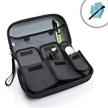Hard Shell Guitar Accessories Kit Carrying Case by USA Gear - Works With Fender , Snark , D'Addario , Intellitouch , Korg and More Guitar Accessories