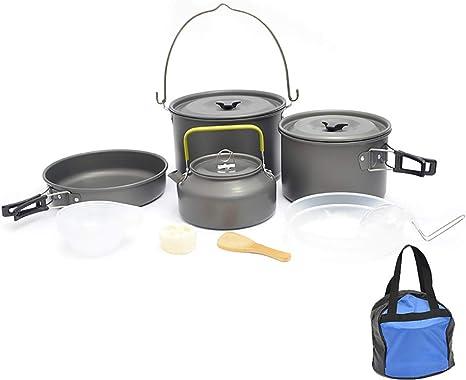 HWYYGL Camping Cookware Chaos Kit, Cocina portátil para ...