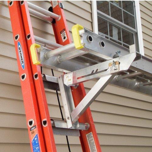 Werner AC10-20-03 - 3 Rung Aluminum Long Body Ladder Jacks, Pair
