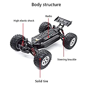 E-SCENERY 1:12 Scale 2.4G 2CH 4WD RC Off-road Truck, High Speed Remote Control Semi-truck Short Course Racing Car With Shock Absorbing Bumper System, Rechargeable Battery