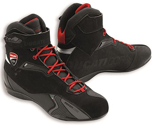 Ducati Corse City Technical Short Motorcycle Boots by TCX Black Euro 42 US - Helmet Euro