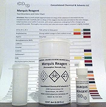 Amazon Marquis Reagent Presumptive Test 6ml By Consolidated
