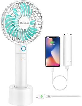 HandFan Ventilador de Mano Plegable Mini Ventilador eléctrico ...