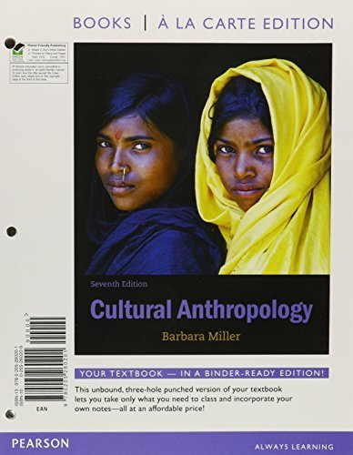 Download Cultural Anthropology, Books a la Carte Plus NEW MyAnthroLab with eText -- Access Card Package (7th Edition) 7th edition by Miller, Barbara D. (2012) Loose Leaf pdf