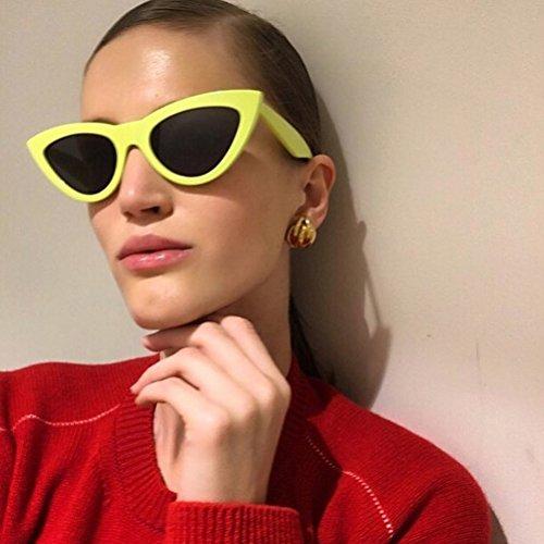 Cadre Lunettes de Étui à Soleil Classique Red Protection Zhhlinyuan avec Yeux Lunettes Chat Rétro UV Femmes aRUInOW7