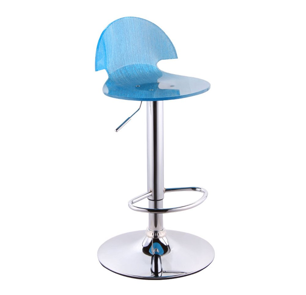 7 Bar Stool, Bar High Stool redate Cafe Counter High Back Woody Creative Tall Front Desk Kitchen Chair European High 5676cm 360 Degree (color    5)