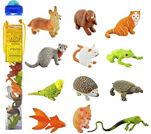 Safari Ltd. Haustiere Toob 681504 - 12 Handbemalte Sammelfiguren in Tube