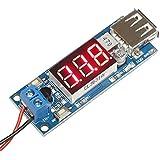DROK® DC-DC Buck Voltage Converter 4.5-40V 12V to 5V/2A Step-down Volt Transformer Stabilizer Voltage Regulator Module Power Supply Switch Inverter Board with LED Voltmeter 5V USB Charger
