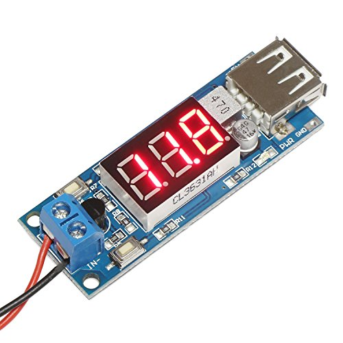 DROK DC-DC Buck Voltage Converter 6.5-12V to 5V 2A Step-down Volt Transformer Stabilizer Voltage Regulator Module with USB Output