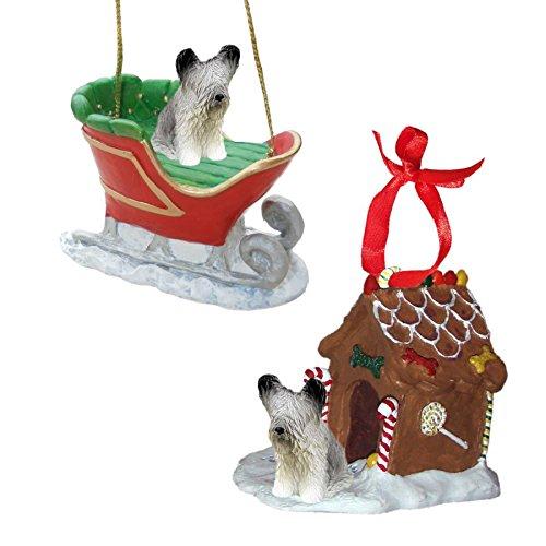 (Skye Terrier Figurine Christmas Ornaments)