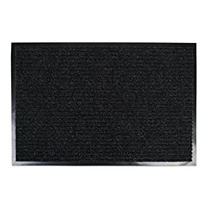 J & M Home Fashions Ribbed Utility Mat, 30-Inch by 48-Inch, Charcoal