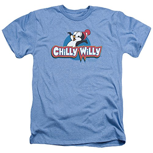 Chilly Willy Penguin Funny Cartoon Character Logo Adult Heather T-Shirt Tee (Adult Cartoon Characters)