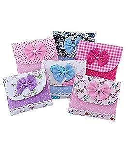 WEIYI Portable Sanitary Holder Bowknot Sanitary Napkin Pad Case for Girls(Random)