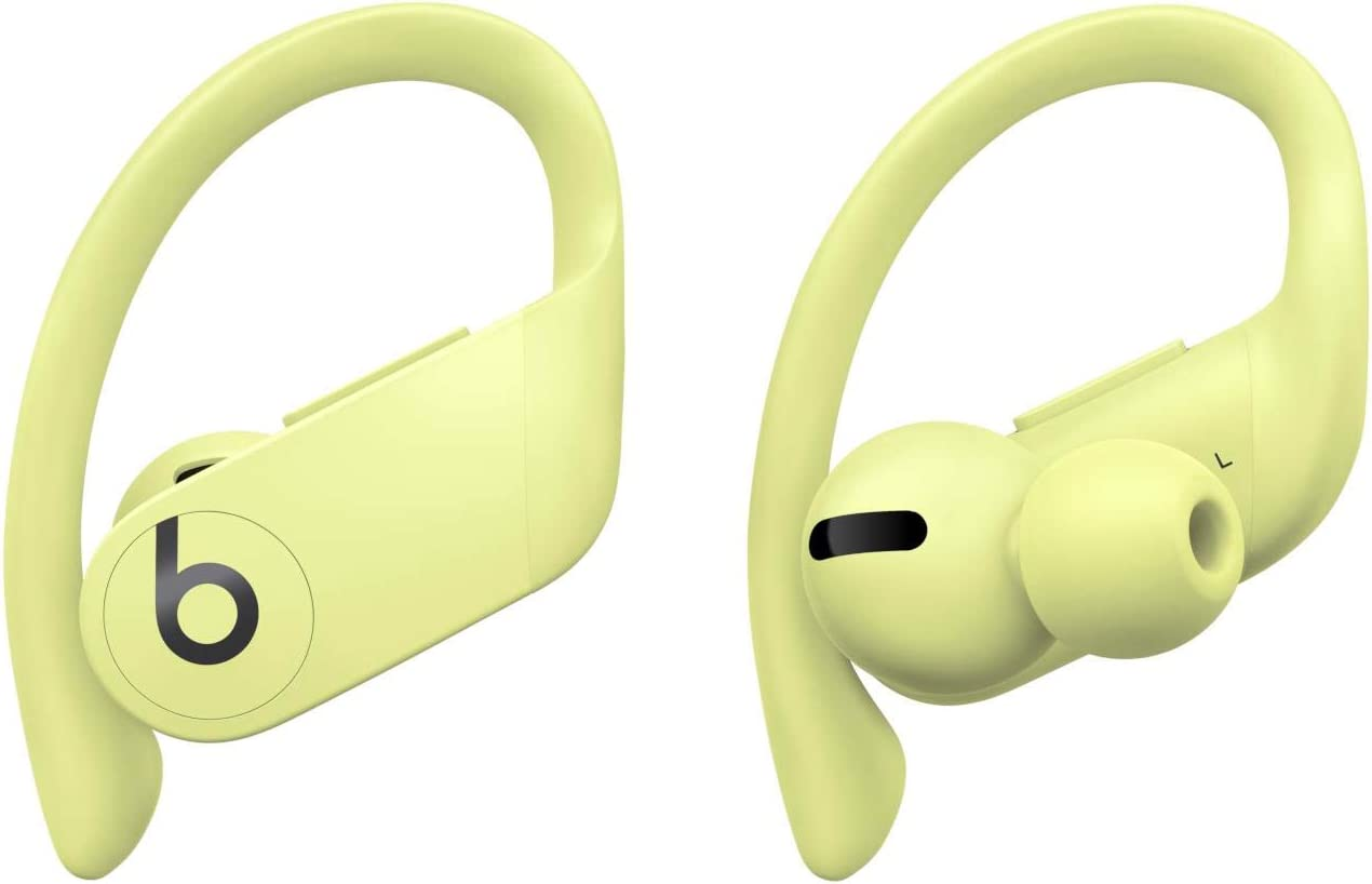 Powerbeats Pro Wireless Earbuds - Apple H1 Headphone Chip, Class 1 Bluetooth Headphones, 9 Hours of Listening Time, Sweat Resistant, Built-in Microphone - Spring Yellow