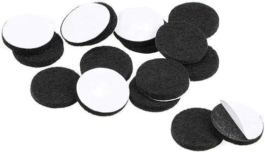 20mm ROUND FELT BLACK PADS SELF-ADHESIVE FURNITURE ANTI SCRATCH PROTECTOR STICKY