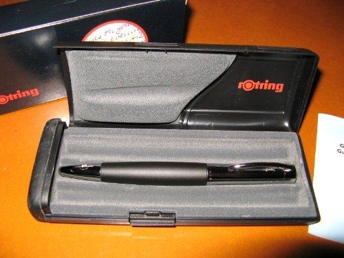 Rotring Initial Fountain Pen Black Silver Medium Nib