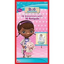 Paper Magic 16CT Notepads Doc McStuffins Kids Classroom Valentine Exchange Cards