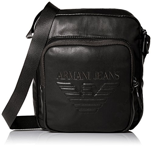 Armani Jeans Men's Crossbody Bag with Embossed - Armani Bag Men