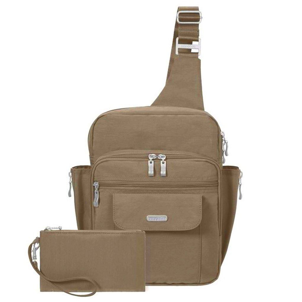 Baggallini Messenger Sling Organizer Shoulder Backpack Bag (Mocha/MES160) by Baggallini (Image #2)