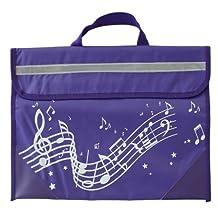 Wavy Stave Music Bag - Purple