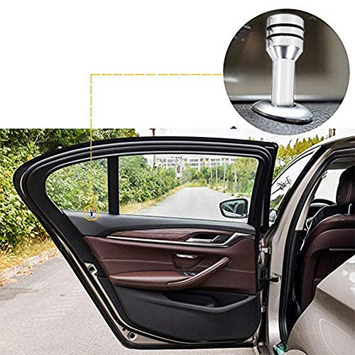 Kuuleyn Car Door Lock Knob Red 1 Pair Universal Aluminum Alloy Interior Door Lock Knob Pins Cover for Car Truck