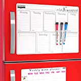Large Weekly Magnetic Calendar for Refrigerator / Small Calendar Magnet Board Fridge Meal Planner - Cool Magnets for Refrigerator - Magnetic Planner Board / To Do List Board Magnets Refrigerator 2019
