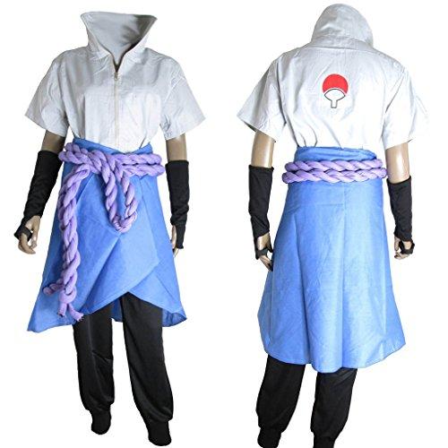 HOLRAN Naruto Cosplay Sasuke Uchiha The Suit uniform Cost...