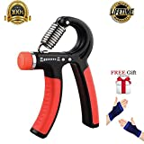 QING'S Hand Grips Strengthener Strength Trainer Adjustable Grippert 20-90 Lbs Hands Exerciser Gripper For Athletes,Office Workers, Elder People,Hand Wounded,Drivers,Kids (red/black) Review