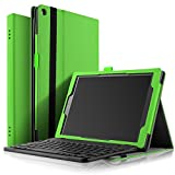 IVSO All-New Fire HD 10 Tablet Case With Keyboard ,Ultra-Thin PU Leather DETACHABLE Bluetooth Keyboard Stand Case /Cover for All-New Amazon Fire HD 10 Tablet Case (7th Generation,2017 Release)(Green)