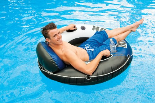 Intex River Run 1 Person Floating Tube (6 Pack) & River Run Lounge (4 Pack) by Intex (Image #6)