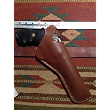 """C.O.W.S. Smith & Wesson 686 6"""" Dual Two Position Leather Holster Cross Draw"""